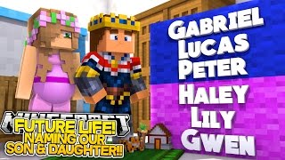 getlinkyoutube.com-Minecraft FUTURE LIFE: NAMING OUR BABY SON & DAUGHTER w/ PREGNANT LITTLE KELLY AND LITTLE DONNY!