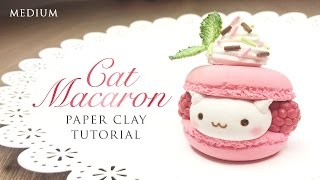 getlinkyoutube.com-DIY How To Make Macaron Cat – Kawaii Clay Tutorial