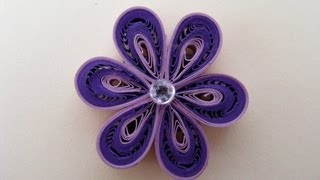 getlinkyoutube.com-✿ Quilling - Floare - Tutorial 3 - AidaCrafts