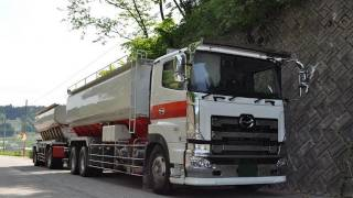 getlinkyoutube.com-全長18メートル大型フルトレーラーの左折Turn left large trailer full of 18 m