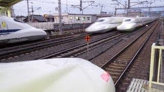 getlinkyoutube.com-東海道新幹線 のぞみ(N700系・700系)16両編成×5 高速通過集 米原駅 2014.6.27