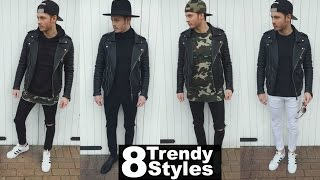 getlinkyoutube.com-Mens Fashion 2016 Street Style | How To Style A Leather Jacket - Lookbook Spring