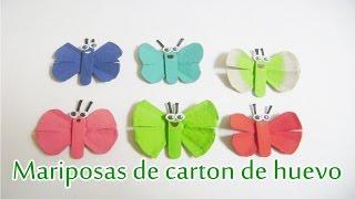 getlinkyoutube.com-Mariposas de Cartón de huevo
