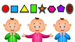 getlinkyoutube.com-Learn Shapes For Babies And Many More | JamJammies Fun Songs | Nursery Rhymes Compilation