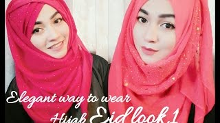 getlinkyoutube.com-Eid Hijab Style tutorial part 1| ParizaaD