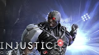 getlinkyoutube.com-Injustice: Gods Among Us - Cyborg - Classic Battles On Very Hard (No Matches Lost)