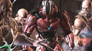 getlinkyoutube.com-Mortal Kombat XL - Baraka, Rain, Sindel and Corrupted Shinnok Perform Triborg Fatalities