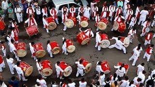 getlinkyoutube.com-Gajar Dhol Tasha Pathak celebrating Gudi padwa 2014 at Girgaon, Mumbai HD