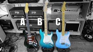 getlinkyoutube.com-3 Strats Epic Battle - Harley Benton / Fender / LsL (Part 1/2)