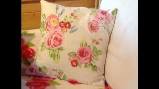 getlinkyoutube.com-Make a cushion cover in 30 minutes part 1.