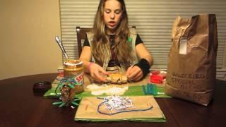 getlinkyoutube.com-Carley Making Bird Toys for Rescue Birds