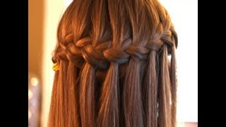 getlinkyoutube.com-Peinado: Trenza de cascada, waterfall braid