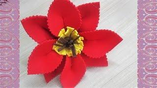 getlinkyoutube.com-Flor de EVA - Passo a Passo #2
