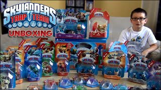 getlinkyoutube.com-MEGA UNBOXING SKYLANDERS TRAP TEAM !