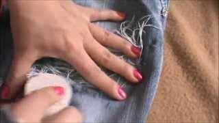 getlinkyoutube.com-como hacer rotos a los  jeans