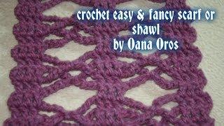 getlinkyoutube.com-crochet easy &fancy scarf or shawl