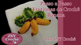 getlinkyoutube.com-Passo a passo Frutinhas de Crochê Banana 3D por JNY Crochê