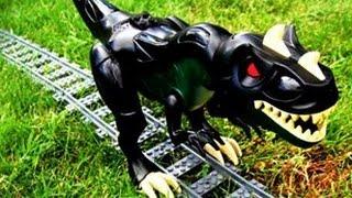 getlinkyoutube.com-Lego - Train vs Dino (Jurassic Track)