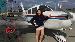 Piper Warrior Intense Towered Landing - ATC Audio and Unresponsive Aircraft in the Pattern.