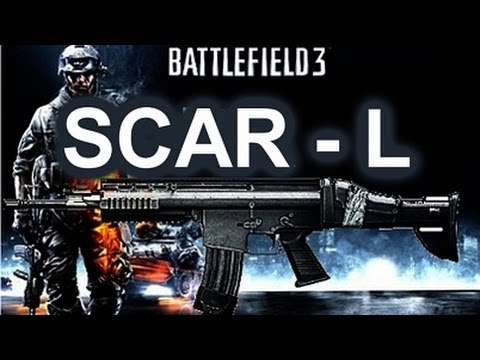 Battlefield 3 Online Gameplay - SCAR L Weapon Review on PC LIVE COM
