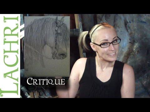 Critique your painting series - art tips w/ Lachri - graphite  horse