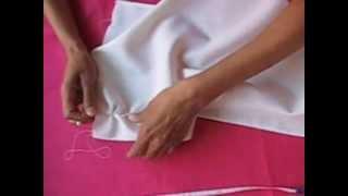 getlinkyoutube.com-Deshilado Muestrario 1 (preparación de la tela)