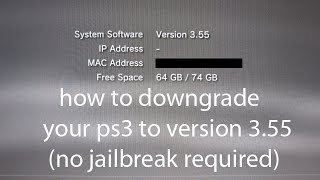 getlinkyoutube.com-how to downgrade your ps3 to version 3.55 ( no jailbreak)