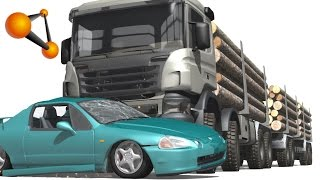 getlinkyoutube.com-BeamNG.Drive Mod : 8x8 Heavy utility truck Scania (Crash test)