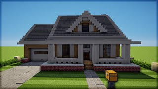 getlinkyoutube.com-Minecraft: Como construir uma Casa Americana 3