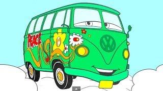 Раскраска из Мультфильма Тачки (Pixar Cars) - развивающий мультфильм