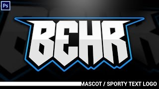 getlinkyoutube.com-Tutorial: Simplistic Mascot/Sporty Text Logos (eSports, Sports, ect.) (Photoshop CC)