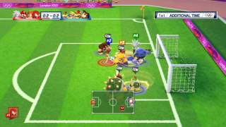 getlinkyoutube.com-Mario and Sonic at the London 2012 Olympic Games: Part 10 - Football