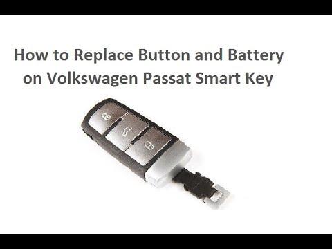 Replace Button & Battery VW Volkswagen Passat Key Fob Fernbedienung Batterie wechseln