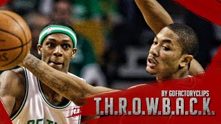 Throwback: Derrick Rose vs Rajon Rondo Duel Highlights 2009 Playoffs R1G1 Bulls at Celtics - SICK