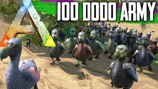 getlinkyoutube.com-ARK Survival Evolved Spawning | 100 DODO ARMY vs Trex | Gameplay / Letsplay 1080p HD