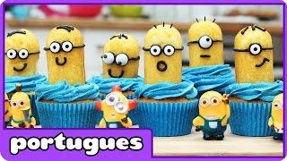 getlinkyoutube.com-Cupcakes de Minions | Minion Cupcakes | Receitas por HooplaKidz Portugues
