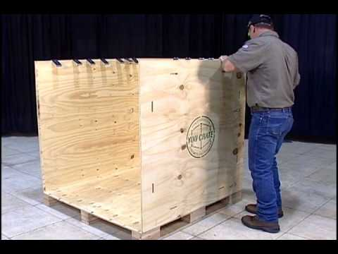 How To Assemble A You Crate Shipping Crate