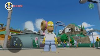 getlinkyoutube.com-LEGO Dimensions - Simpsons Springfield - Open World Free Roam Gameplay