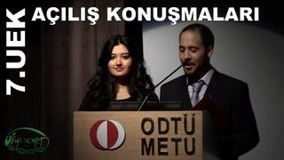 Prof.Dr. Ersan Akyıldız ve Doç.Dr. Meral Kence'nin açılış konuşmaları