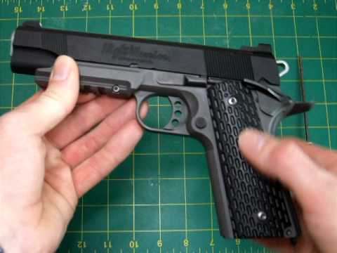 Tokyo Marui Night Warrior 1911 airsoft GBB review by LaZouche Custom..
