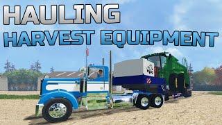 getlinkyoutube.com-Farming Simulator 2015- Hauling Harvest Equipment!
