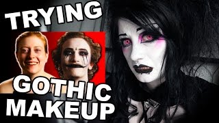 getlinkyoutube.com-Goth Reacts to People Try Gothic Makeup for the First Time | Black Friday