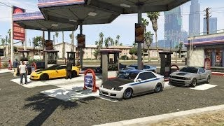 getlinkyoutube.com-Grand Theft Auto V Online (PS3) | Street Car Meet Pt.4 | Airport & LS River Drag Racing, Cops & More