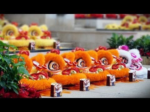 RECORD-BREAKING: 118 Lions LARGEST Lion Dance Eye-Dotting Ceremony - KSK Singapore Kun Seng Keng