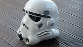 getlinkyoutube.com-Star Wars, rogue one, making Stormtrooper Helmet, selber bauen, Pepakura / Pepacraft, 66target