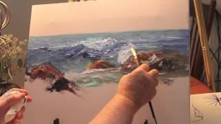getlinkyoutube.com-Paint: Ocean Wave Part 1-with Marge Kinney