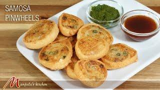 getlinkyoutube.com-Samosa Pinwheels - Indian Gourmet Appetizer Recipe by Manjula