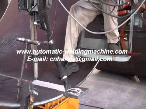 Steel tank or pipe longitudinal seam track welding machine