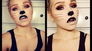 getlinkyoutube.com-Halloween Cat Make up Tutorial | Vanessa Herold