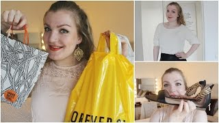 Shoplog Forever 21, Urban Outfitters, H&M en Loavies (met try on/modeshow!)